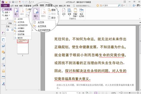 如何使用PDF编辑器进行合并