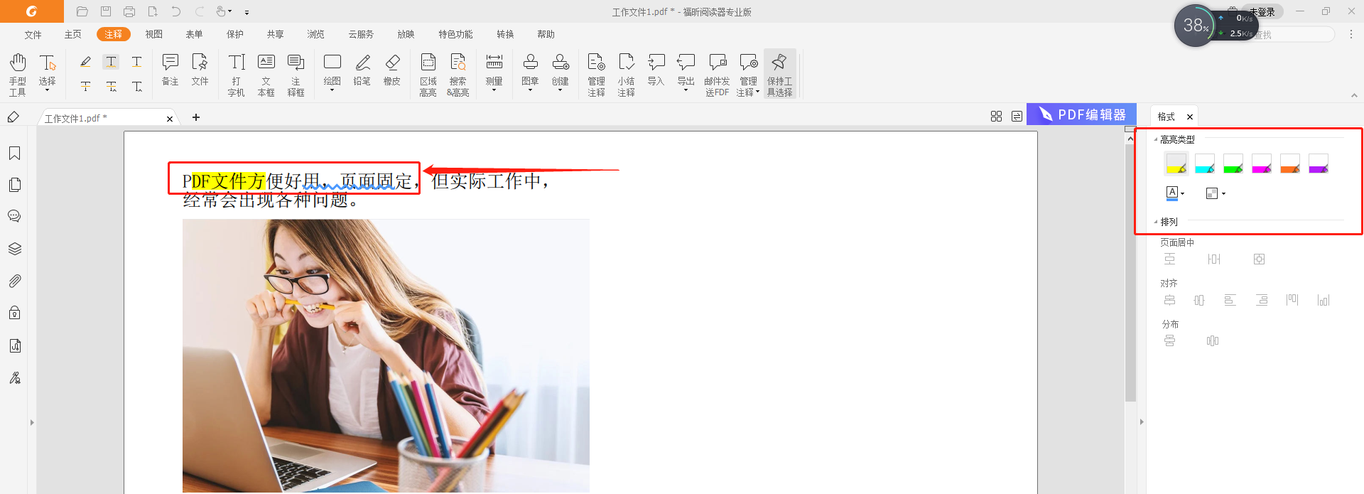 PDF文本标注