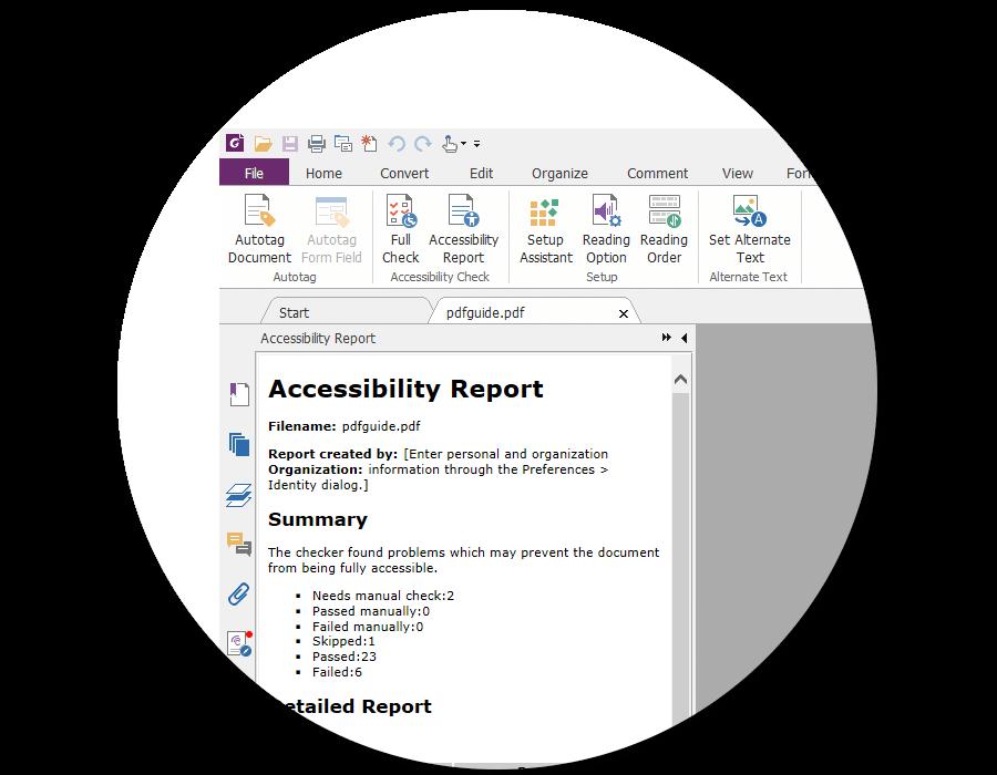 符合美国508无障碍法案 – 提供PDF辅助技术和功能