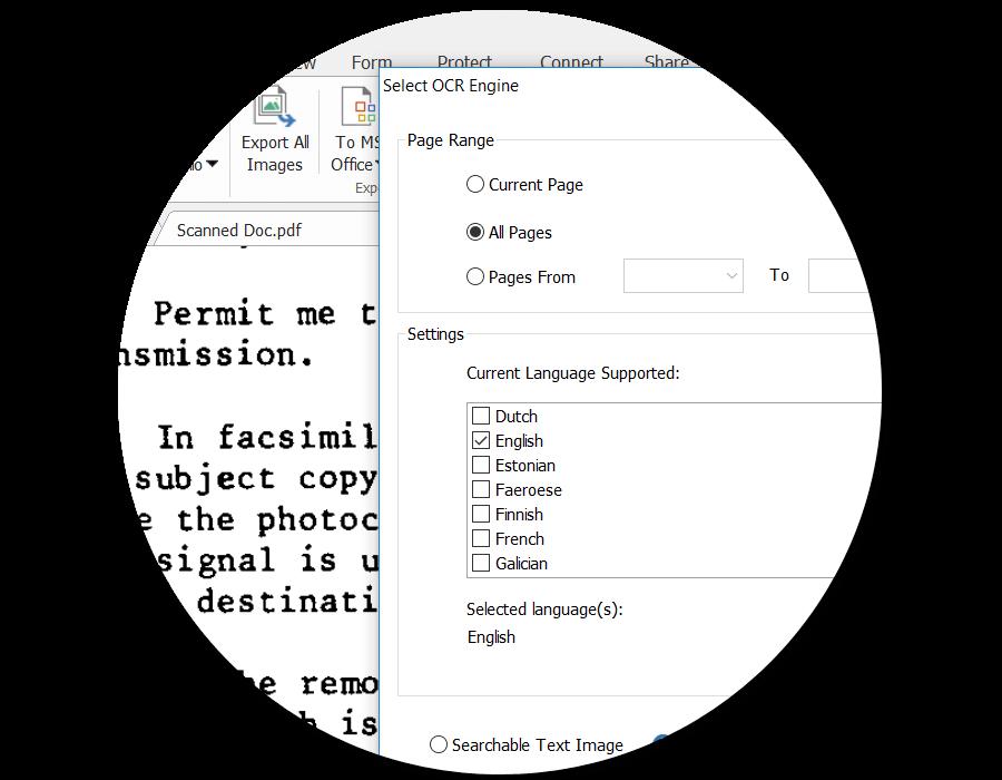 PDF扫描和PDF OCR文字识别 – 扫描纸质文件到PDF,OCR识别PDF,编辑扫描后的PDF
